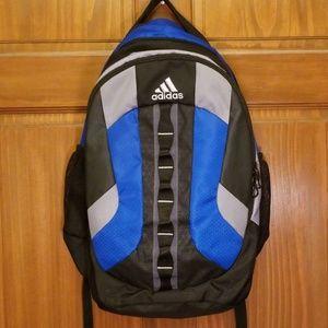Adidas Blue Black Silver Four Pocket Backpack